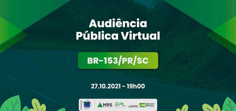 IBAMA realiza audiência pública virtual sobre a BR-153/PR/SC no dia 27/10